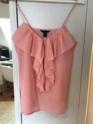 H&M Ruche blouse roze