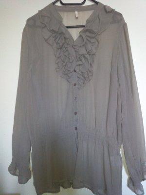 Blusa de manga larga marrón grisáceo Poliéster