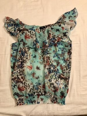 Ann Christine Ruche blouse veelkleurig