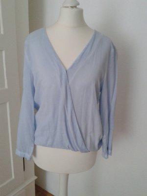 More & More Blusa cruzada azul pálido