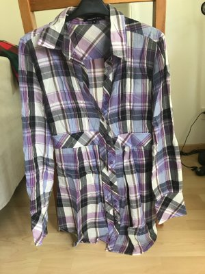 Sommerbluse Plaid Muster Schärpe