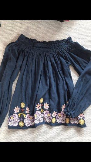Hollister Carmen blouse donkerblauw