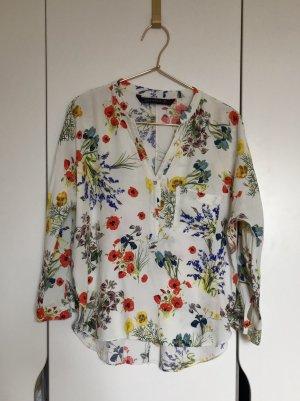 Zara Woman Blusa larga multicolor
