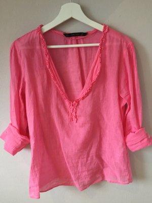 Sommerbluse ZARA Basic, rosa/pink