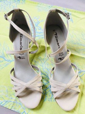 Tamaris High-Heeled Sandals oatmeal leather
