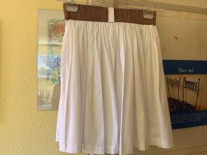 Jupe à plis blanc-doré coton