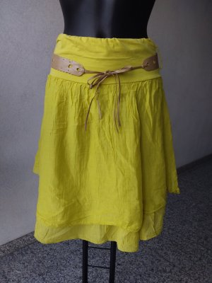 Made in Italy Broomstick Skirt lime yellow