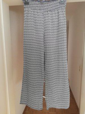 Pantalone culotte bianco-blu scuro Poliestere