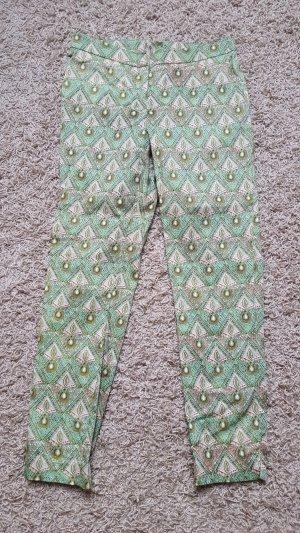 Hallhuber 7/8 Length Trousers light pink-lime-green mixture fibre