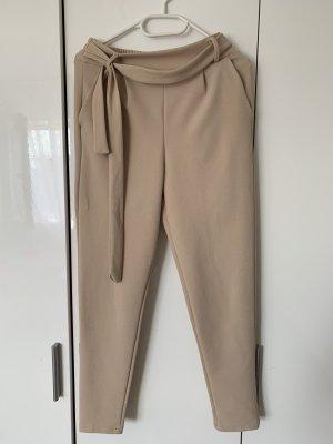 Pantalone a pieghe beige