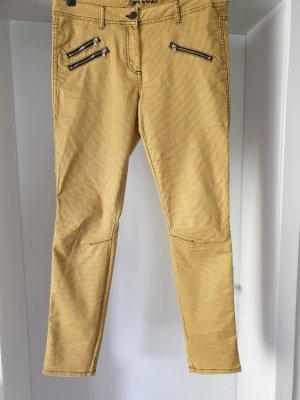 Kenny S. Jeans elasticizzati nero-giallo