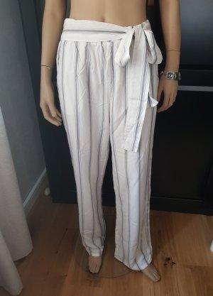 Tchibo / TCM Pantalón estilo Harem blanco-azul