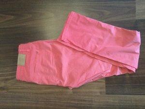 Yaya Low-Rise Trousers pink cotton