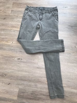 Sublevel Pantalón de color caqui caqui-gris verdoso Algodón