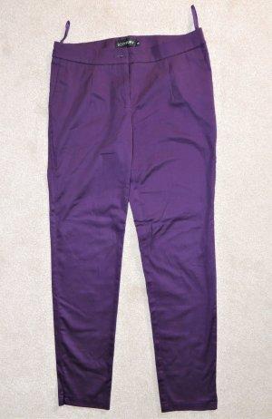 Bodyflirt Jersey Pants dark violet cotton