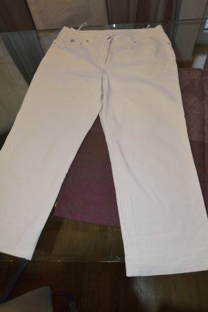 Madeleine 7/8 Length Trousers white cotton