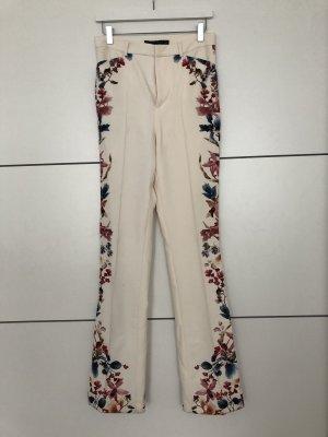Zara Woman High Waist Trousers natural white