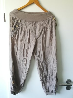Pantalon 3/4 beige coton