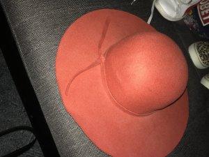 Chapeau en feutre rouille
