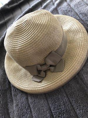 Cappello di paglia grigio-verde-cachi