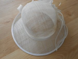 Sun Hat white-natural white synthetic fibre