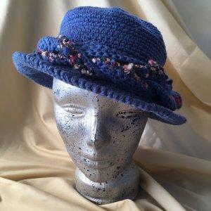 Sommerhut Handarbeit blau Kornblumenblau
