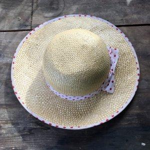 Chapeau de paille brun sable-beige