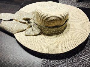 Cappello beige-bianco