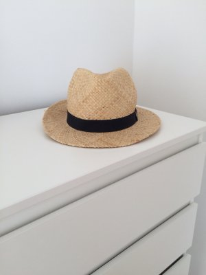 Asos Sombrero de ala ancha color oro-crema