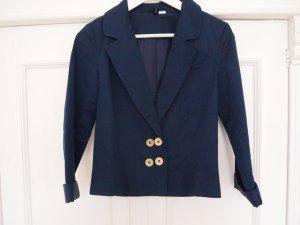Sommerjacke Blazer H&M blau Goldknöpfe Marine Jacke