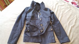 Sommerjacke Übergangsjacke Trenchcoat schwarz braune Knöpfe XS 34 H&M
