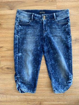Blind Date 3/4-jeans staalblauw-korenblauw Katoen