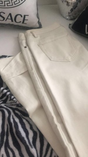 Low-Rise Trousers cream cotton