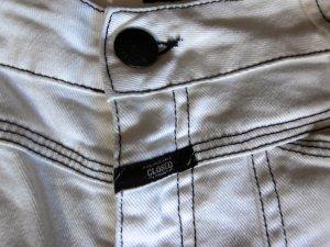 Closed Hoge taille broek wit-zwart Katoen