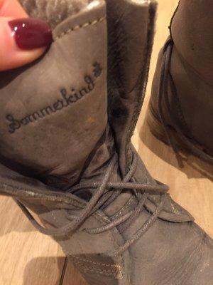 Sommerkind Boots Stiefeletten grau gefüttert 38