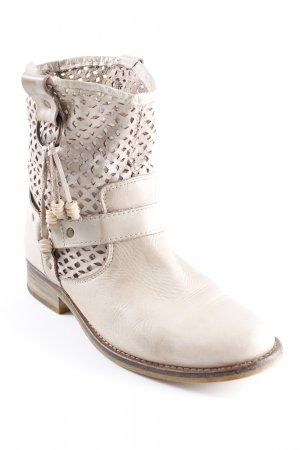 Sommerkind Cut-Out-Stiefeletten hellbeige Casual-Look