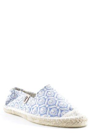 Sommerkind Espadrilles-Sandalen blau-weiß Beach-Look