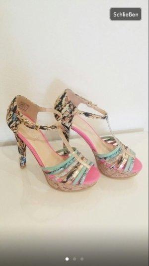 Sommerkind high heels 37 pumps bunt pink Hohe Schuhe Party