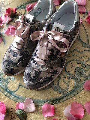 Sommerkind Leder Sneaker Gamouflage  Tan Look rosa neu 99€
