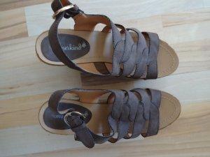Sommerkind Wedge Sandals mauve-light grey imitation leather