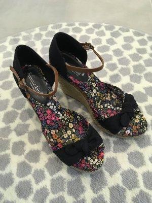 Sommerkind Wedges Hohe Schuhe Sandalen 38 bunt Blogger