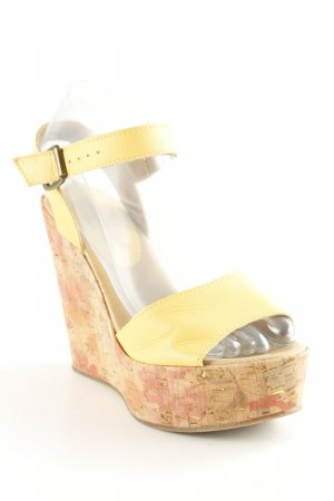 Sommerkind Wedges Sandaletten dunkelgelb Beach-Look
