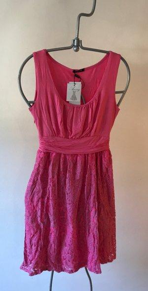 Kanten jurk roze