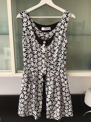 Bernd Berger Mini Dress black-white cotton