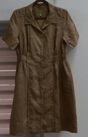 Shirtwaist dress multicolored linen