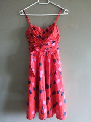 H&M Off the shoulder jurk rood-blauw