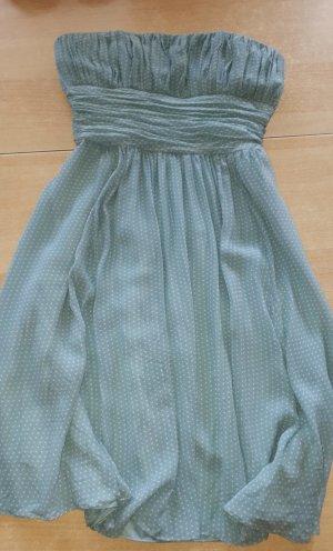 Un Deux Trois Vestido strapless verde grisáceo