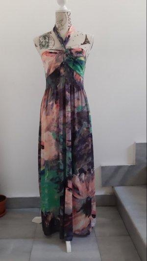 Apart Robe épaules nues multicolore