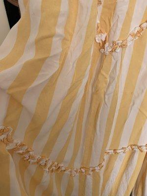 Vestido largo amarillo-blanco