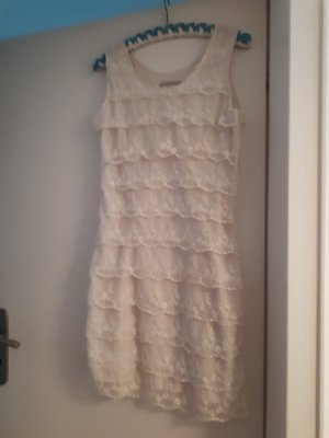 3 Suisses Kanten jurk wit-wolwit